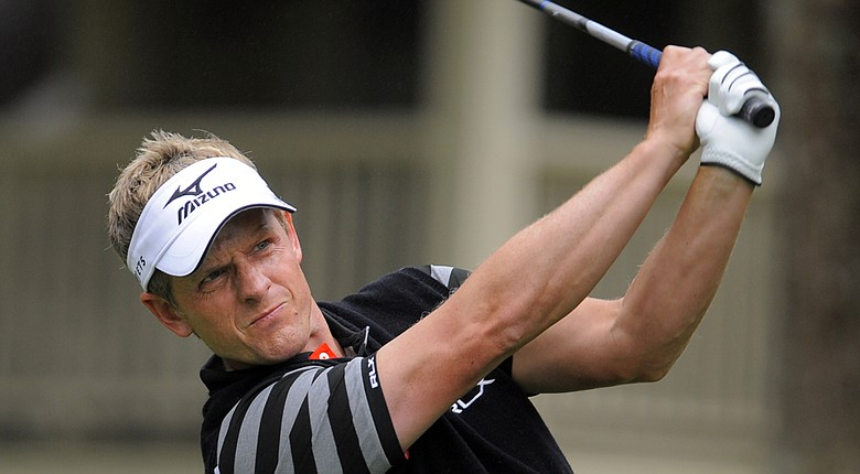 Luke Donald during Saturday's third round of the PGA Tour's 2014 RBC Heritage in Hilton Head Island, S.C.