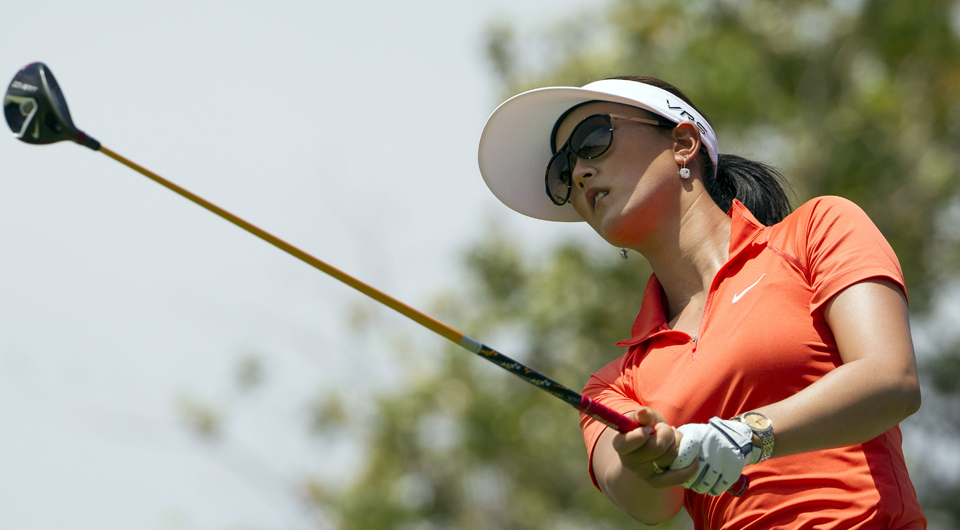 With six birdies in a final-round 67, Michelle Wie charged to the top of the leaderboard Saturday at the LPGA Lotte Championship and claimed her third win on the tour.