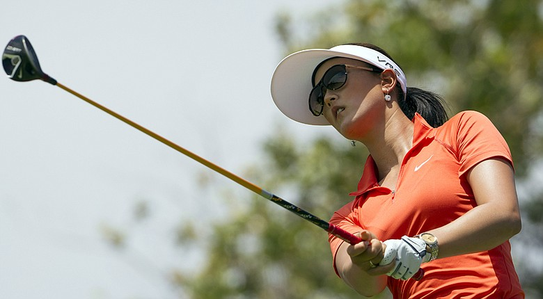 Michelle Wie during Saturday's final round of her win at the 2014 LPGA Lotte Championship.