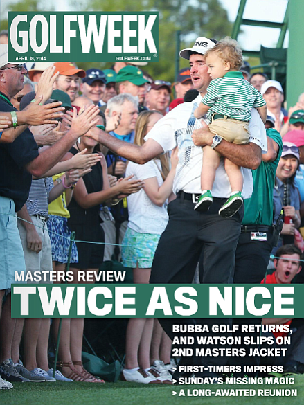 The cover of the April 18, 2014, Golfweek Magazine.