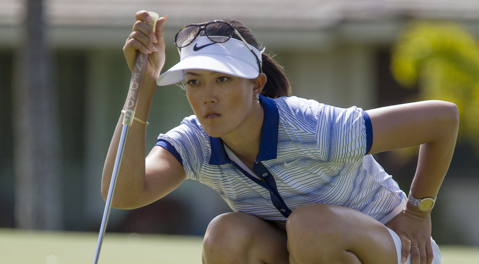 Michelle Wie will play alongside Lydia Ko and Stacy Lewis in the first two rounds of the Swinging Skirts LPGA Classic -- check out complete first- and second-round tee times right here.