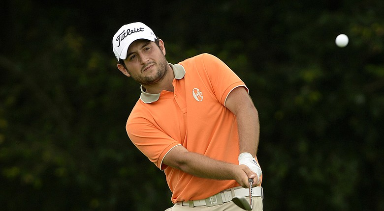 Alexander Levy during his course-record 62 Friday in the European Tour's 2014 China Open.