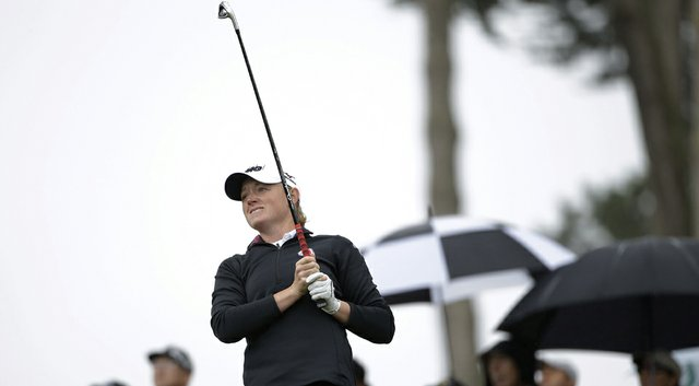 Stacy Lewis during Friday's second round of the 2014 Swinging Skirts LPGA Classic at Lake Merced in California.