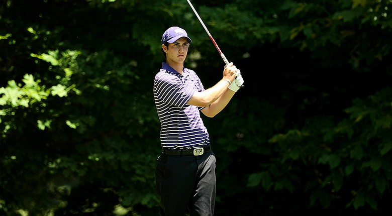 TCU's Julien Brun has a three-shot lead at the Big 12 Championships after 54 holes.