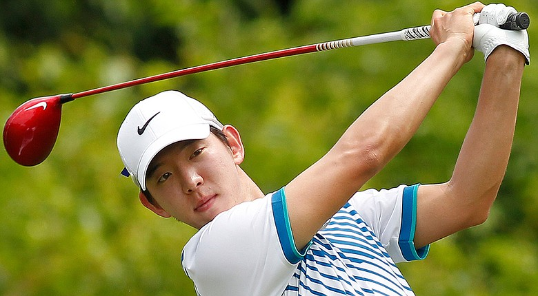 Seung-Yul Noh during the third round of the PGA Tour's 2014 Zurich Classic of New Orleans.