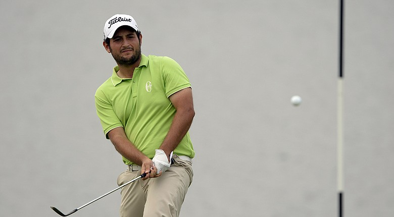 Alexander Levy during Sunday's final round of his 2014 Volvo China Open win on European Tour.