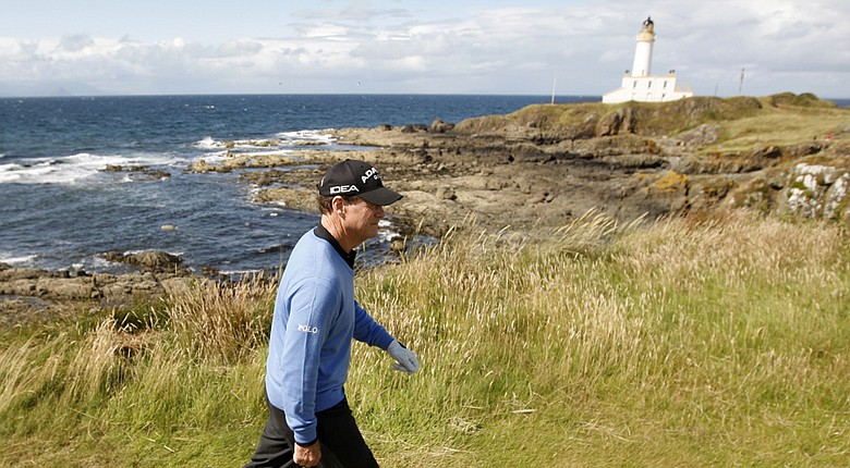 Donald Trump has bought Turnberry, shown here in 2009 as five-time Open champion Tom Watson plays.