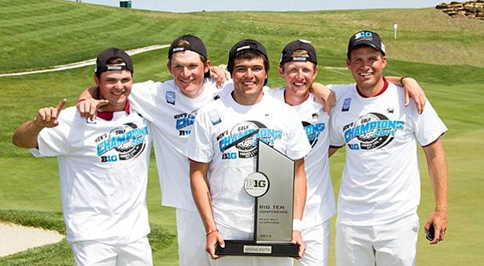 Minnesota won the Big Ten title by four shots at the French Lick Resort in French Lick, Ind.