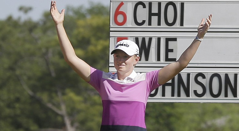 Stacy Lewis birdies the 18th to cap her 2014 North Texas LPGA Shootout win at Las Colinas in Irving, Texas.