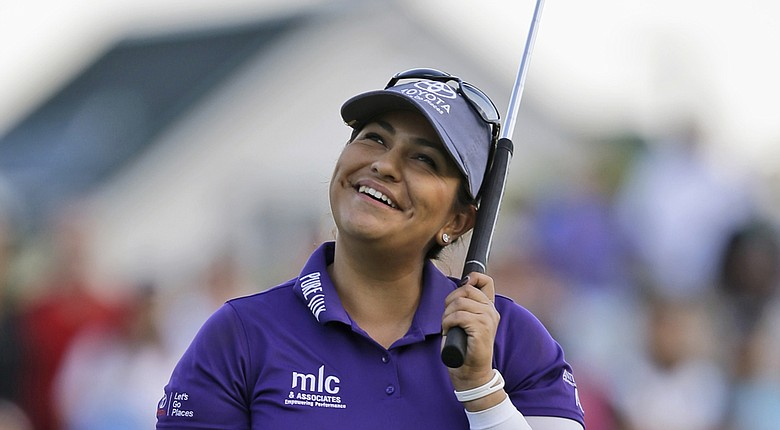 Lizette Salas during Sunday's final round of her first LPGA win at the 2014 Kingsmill Championship in Williamsburg, Va.