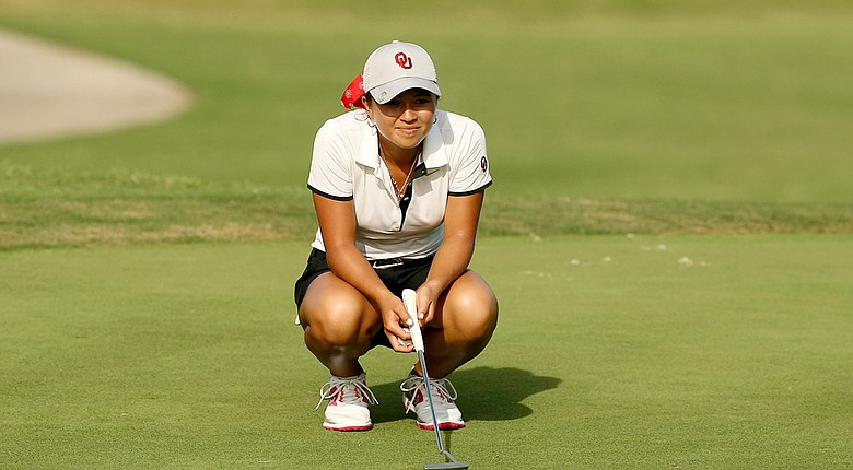 Oklahoma's Alexandra Kaui during Tuesday's first round of the NCAA Division I Women's Championship in Tulsa, Okla