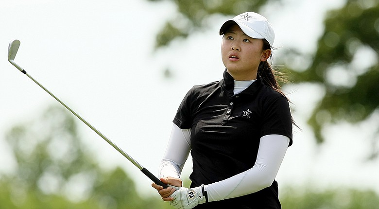 Vanderbilt's Simin Feng during Tuesday's first round of the NCAA Division I Women's Championship in Tulsa, Okla.