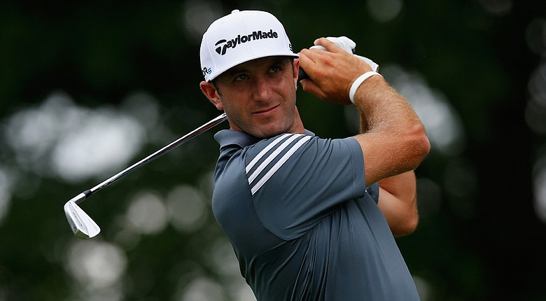 Dustin Johnson fired a 5-under 65 to take a one-shot lead at the Crowne Plaza Invitational on Thursday.