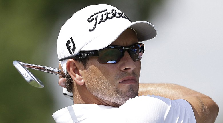 Adam Scott during the PGA Tour's 2014 Crowne Plaza Invitational at Colonial in Fort Worth, Texas.