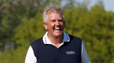 Colin Montgomerie after winning the 2014 Senior PGA Championship in Benton Harbor, Mich.