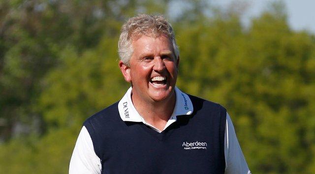 Colin Montgomerie after winning the 2014 Senior PGA Championship in Benton Harbor, Mich.