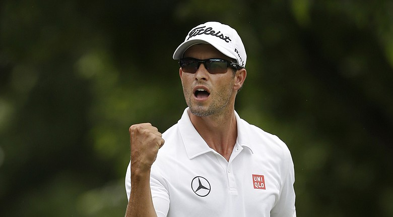 Adam Scott tops the experts' picks for the PGA Tour's 2014 Memorial Tournament (shown here during last week's win at Colonial).