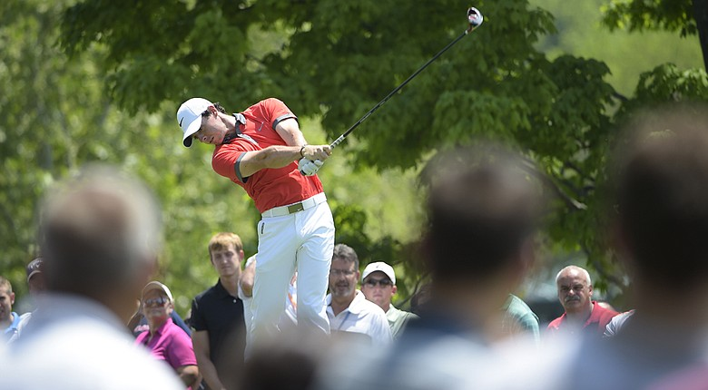 Rory McIlroy had two eagles, seven birdies and a double-bogey in recording a 9-under 63 in the first round of the Memorial.