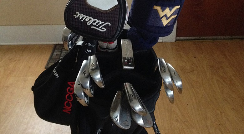 Mason Short's winning equipment from the NCCGA National Championship.