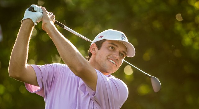 Cory Whitsett, a member of Alabama's 2013 and 2014 NCAA Championship team, during the U.S. Open Sectional Qualifier at Lakeside Country Club in Houston.