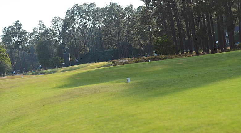 A look at the sixth hole from the back tee at Pinehurst No. 2.