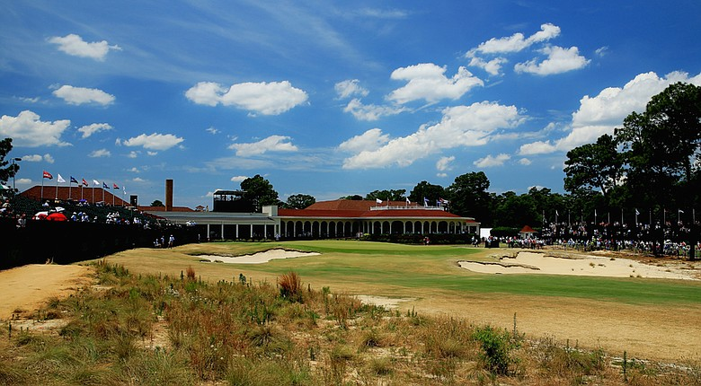 The 18th hole at Pinehurst.