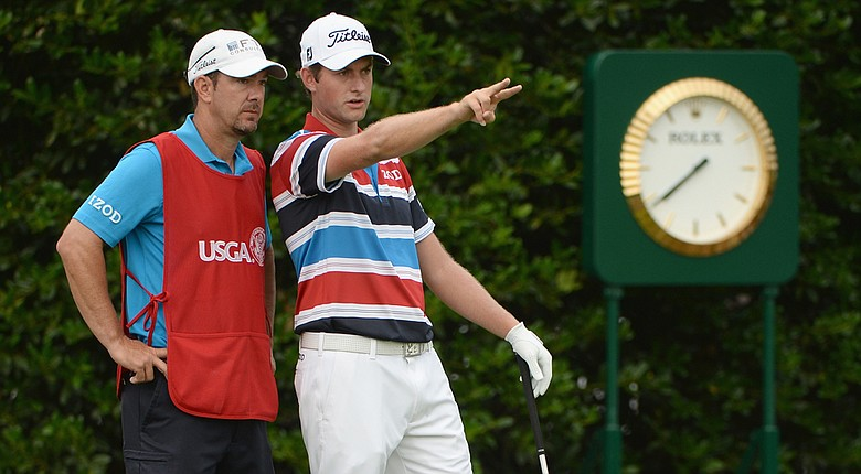 Webb Simpson birdied the opening hole on Thursday at the U.S. Open.