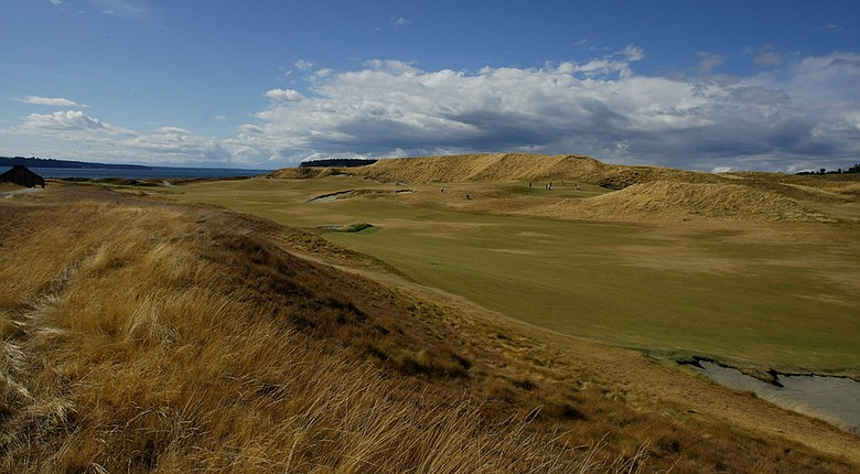 The 18th fairway at Chambers Bay, site of the 2015 U.S. Open.