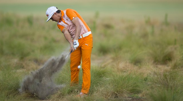 Rickie Fowler during the 2014 U.S. Open at Pinehurst, which boasted dry, firm and fast conditions in the wake of a Bill Coore and Ben Crenshaw makeover.