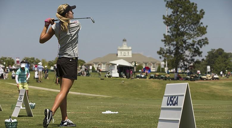 Lexi Thompson practices Sunday at Pinehurst in advance of the 2014 U.S. Women's Open.