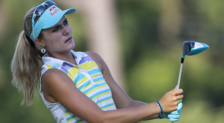 Lexi Thompson, 19, took in a practice round on Monday at Pinehurst No. 2 ahead of the 2014 U.S. Women's Open.