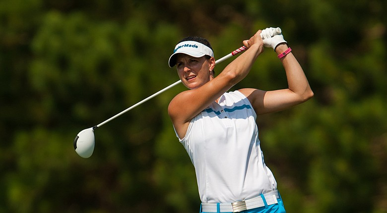 Karen Paolozzi during Sunday's first round of the 2014 PGA Professional National Championship in Myrtle Beach, S.C.