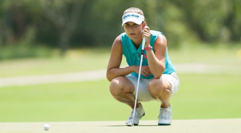 Karen Paolozzi during Monday's second round of the 2014 PGA Professional National Championship in Myrtle Beach, S.C.