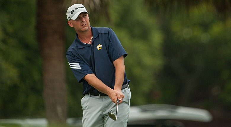 Jamie Broce, the men's coach at the University of Toledo, holds a three-shot lead at the PGA Professional National Championship.