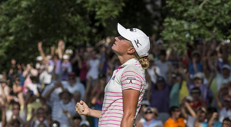 Stacy Lewis during her win Sunday at the LPGA's 2014 Walmart NW Arkansas Championship.