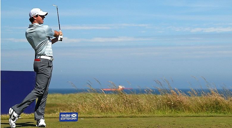 Rory McIlroy during Friday's second round of the European Tour's Scottish Open at Royal Aberdeen.