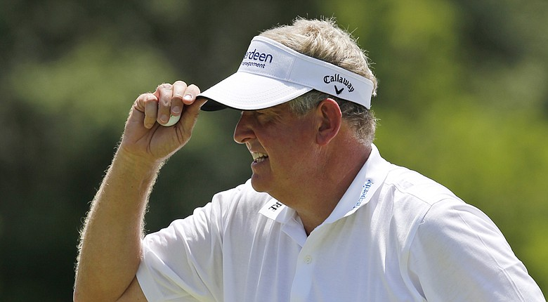 Colin Montgomerie during his win at the 2014 U.S. Senior Open at Oak Tree National.