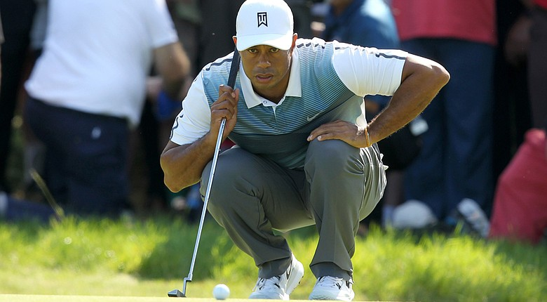 Tiger Woods had six birdies en route to his 3-under 69 on Thursday at the Open Championship.