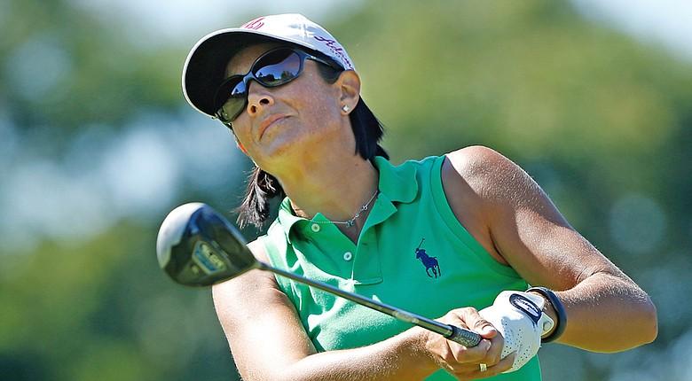 Laura Diaz during Thursday's first round of the LPGA's 2014 Marathon Classic in Sylvania, Ohio.