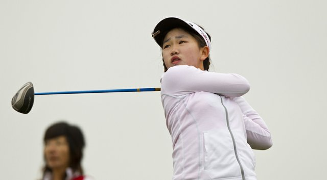 Lucy Li, 11 years old, during the 2014 U.S. Women's Amateur Public Links in Dupont, Wash.