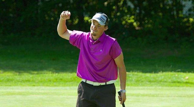 John Kelly after securing the 2014 Massachusetts Amateur Championship at Kernwood CC in Salem, Mass.