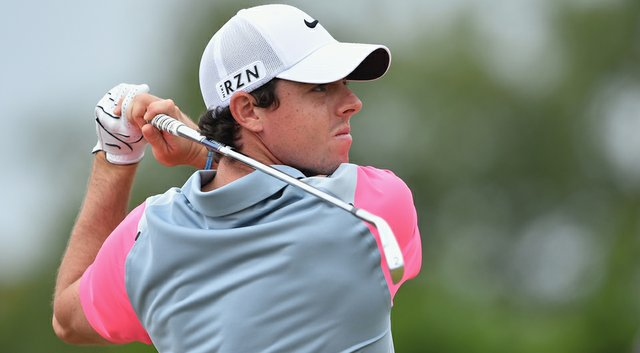 Rory McIlroy tees off on the second hole during the final round of the 2014 British Open at Royal Liverpool.