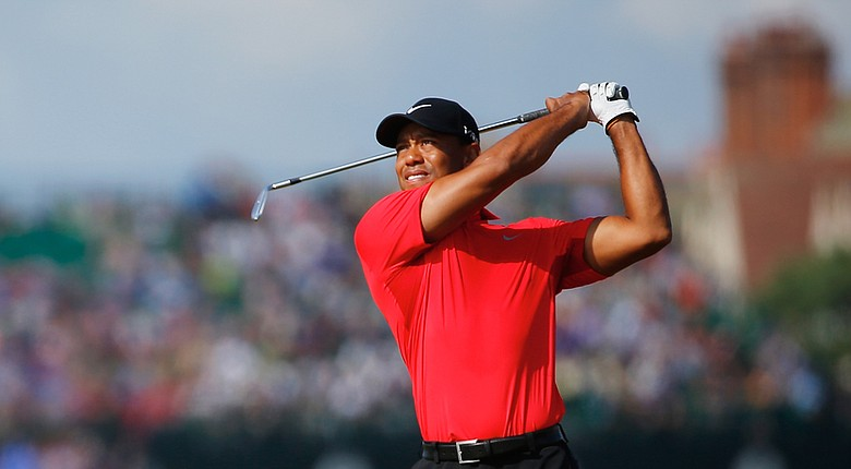 Tiger Woods during Sunday's final round of the 2014 British Open at Royal Liverpool in Hoylake, England.