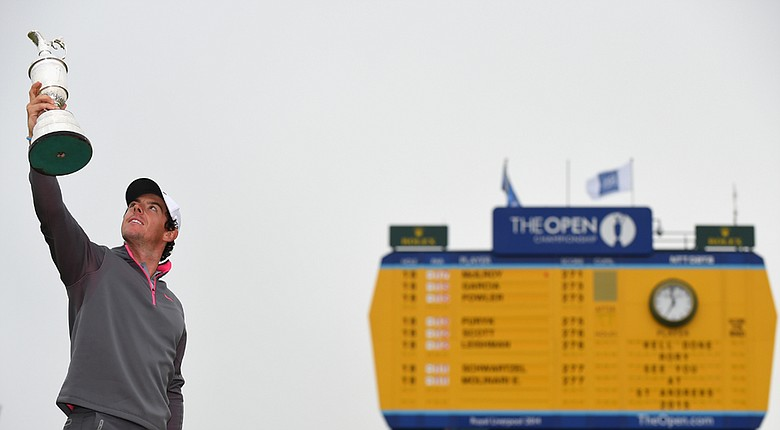 Rory McIlroy led by as many as seven shots on Sunday at the British Open, which showed shades of Tiger Woods and his ability to run away from a major field.