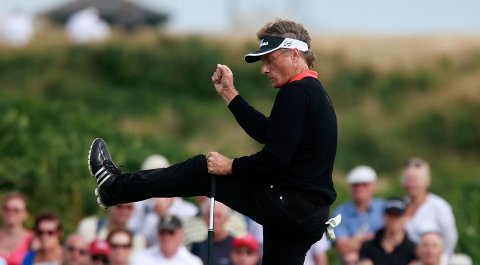 Bernhard Langer during his 2014 Senior British Open victory at Royal Porthcawl in Wales.