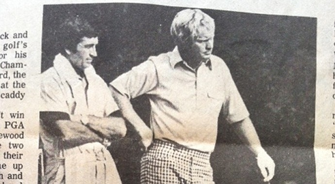 A local newspaper documented caddie Jack Rickard's week alongside a more famous Jack -- Nicklaus, that is -- during the 1974 PGA Championship at Tanglewood Park in Clemmons, N.C.