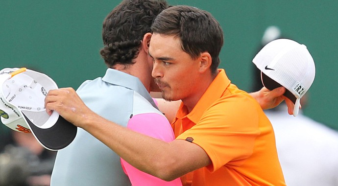 Rickie Fowler, who finished runner-up to Rory McIlroy at the 2014 Open Championship, has the lowest score through the first three majors of 2014.