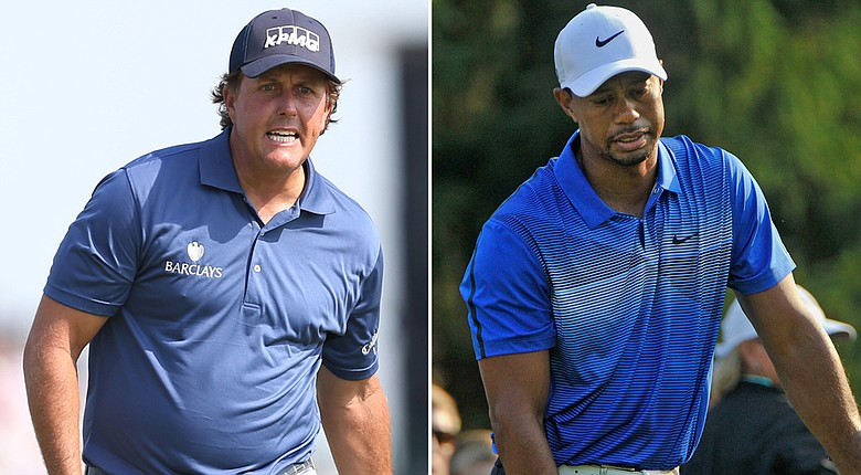 Phil Mickelson and Tiger Woods have yet to record a top-10 finish on the PGA Tour in 2014, and neither is in position to end that streak this week at Firestone.