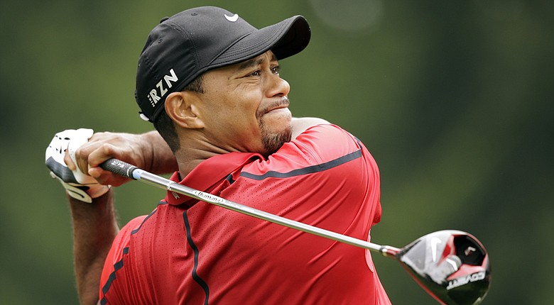 Tiger Woods during play on Sunday before withdrawing from the 2014 WGC-Bridgestone Invitational on PGA Tour.