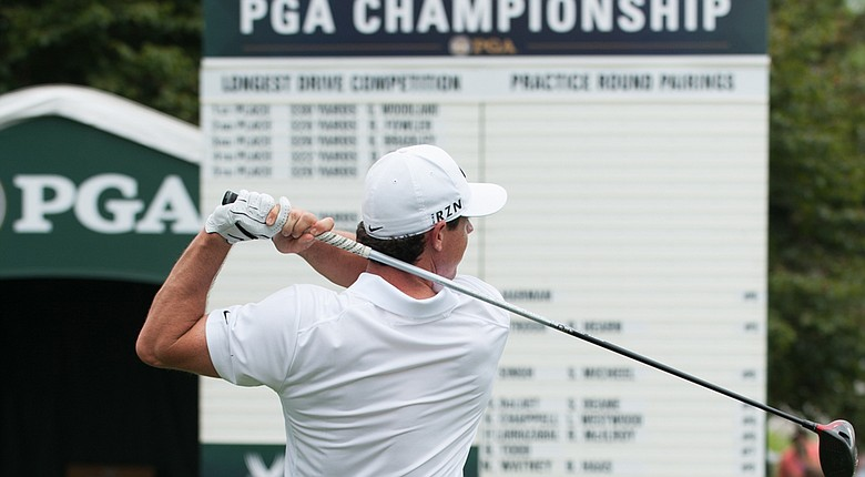 Rory McIlroy is favored by oddsmakers to win the 2014 PGA Championship, which would give him back-to-back major titles.